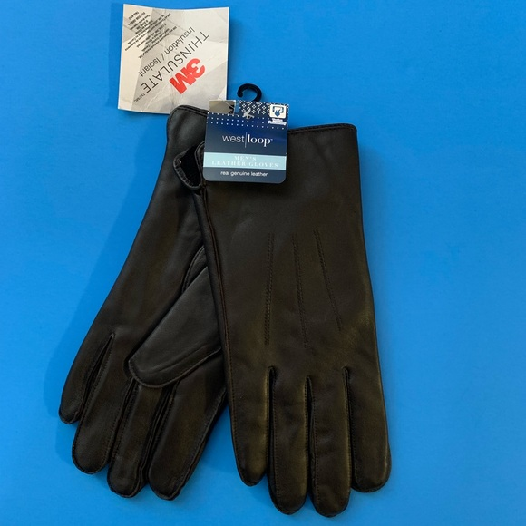 West Loop Men/'s or Women/'s  Fleece Gloves Gray with 3M Thinsulate One Size NWT
